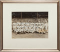 Autographs:Photos, 1927 New York Yankees Team Signed Photograph - Fresh to the Hobby!...