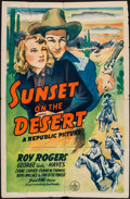 """Movie Posters:Western, Sunset on the Desert (Republic, 1942). One Sheet (27"""" X 41""""). Western.. ..."""