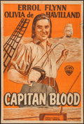 "Movie Posters:Adventure, Captain Blood (Warner Brothers, R-1940s). Argentinean Poster (29"" X43""). Adventure.. ..."