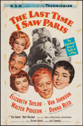"Movie Posters:Romance, The Last Time I Saw Paris (MGM, 1954). One Sheet (27"" X 41""). Romance.. ..."