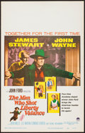 """Movie Posters:Western, The Man Who Shot Liberty Valance (Paramount, 1962). Window Card (14"""" X 22""""). Western.. ..."""