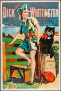 "Movie Posters:Animation, Dick Whittington (1920s-1930s). British Theater Poster (40"" X60"").. ..."