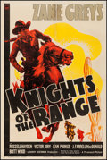 "Movie Posters:Western, Knights of the Range (Paramount, 1940). One Sheet (27"" X 41""). Western.. ..."