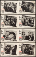 "Movie Posters:Mystery, Scared Stiff (Paramount, 1945). Lobby Card Set of 8 (11"" X 14"").Mystery.. ... (Total: 8 Items)"
