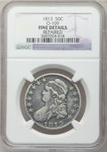 Bust Half Dollars: , 1813 50C -- Repaired -- NGC Details. Fine. O-109. NGC Census:(4/748). PCGS Population (9/620). Mintage: 1,241,903. Numism...