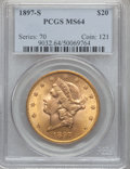 Liberty Double Eagles, 1897-S $20 MS64 PCGS....