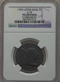 Large Cents: , 1795 1C Lettered Edge -- Corrosion -- NGC Details. VG. S-74. NGCCensus: (2/33). PCGS Population (9/67). Mintage: 37,000. ...