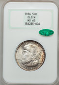 Commemorative Silver: , 1936 50C Elgin MS65 NGC. CAC. NGC Census: (1400/847). PCGSPopulation (2140/1302). Mintage: 20,015. Numismedia Wsl. Price f...