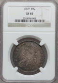 Bust Half Dollars: , 1819 50C XF45 NGC. NGC Census: (57/310). PCGS Population (63/251).Mintage: 2,208,000. Numismedia Wsl. Price for problem fr...