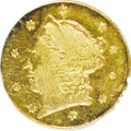 California Fractional Gold, 1859 25C Liberty Round 25 Cents, BG-801, R.3, MS63 NGC. NGC Census:(7/11). PCGS Population (33/49). (#10662)...