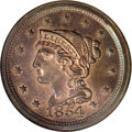 Proof Large Cents, 1854 1C PR66 Red and Brown NGC....