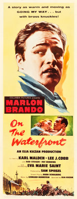 """On the Waterfront (Columbia, 1954). Insert (14"""" X 36"""")"""