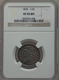 Half Cents: , 1832 1/2 C XF45 NGC. NGC Census: (20/266). PCGS Population(59/302). Mintage: 154,000. Numismedia Wsl. Price for problem fr...