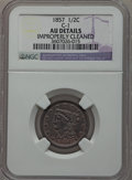 Half Cents: , 1857 1/2 C -- Improperly Cleaned -- NGC Details. AU. C-1. NGCCensus: (3/372). PCGS Population (23/290). Mintage: 35,180. ...