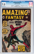 Silver Age (1956-1969):Superhero, Amazing Fantasy #15 (Marvel, 1962) CGC FN/VF 7.0 Cream to off-whitepages....
