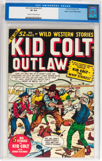 Kid Colt Outlaw #10 Mile High pedigree (Atlas/Marvel, 1950) CGC VF 8.0 Cream to off-white pages