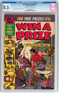 Golden Age (1938-1955):Adventure, Win A Prize Comics #1 (Charlton, 1955) CGC VF+ 8.5 Cream to off-white pages....
