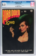 Golden Age (1938-1955):Romance, Forbidden Love #2 (Quality, 1950) CGC VF+ 8.5 Light tan to off-white pages....