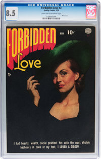 Forbidden Love #2 (Quality, 1950) CGC VF+ 8.5 Light tan to off-white pages