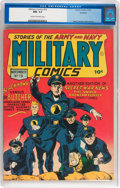 Golden Age (1938-1955):War, Military Comics #13 Rockford pedigree (Quality, 1942) CGC NM- 9.2Cream to off-white pages....