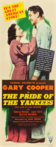 "Movie Posters:Sports, The Pride of the Yankees (RKO, 1942). Insert (14"" X 36"").. ..."