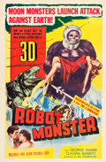 "Movie Posters:Science Fiction, Robot Monster (Astor Pictures, 1953). One Sheet (27"" X 41"") 3-DStyle.From the Collection of Wade Williams.. ..."