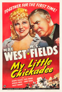 "My Little Chickadee (Universal, 1940). One Sheet (27"" X 41"") Style B"