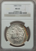 Morgan Dollars: , 1884-O $1 MS63 NGC. NGC Census: (67061/97735). PCGS Population(70977/78116). Mintage: 9,730,000. Numismedia Wsl. Price for...