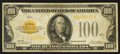 Small Size:Gold Certificates, Fr. 2405 $100 1928 Gold Certificate. Very Fine.. ...