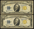 Small Size:World War II Emergency Notes, Fr. 2309 $10 1934A North Africa Silver Certificates. Two Examples. Very Fine.. ... (Total: 2 notes)