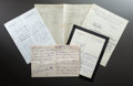 Other:European, RENOIR DEALER BERNHEIM-JEUNE CORRESPONDENCE AND RENOIR ACCOUNT LEDGER. THE RENOIR COLLECTION. ... (Total: 7 Items)