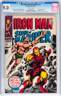 Silver Age (1956-1969):Superhero, Iron Man and Sub-Mariner #1 (Marvel, 1968) CGC VF/NM 9.0 Off-white pages....