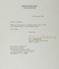 Autographs:Military Figures, William Westmoreland Typed Letter Signed....
