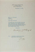 Autographs:Military Figures, Richard Byrd Typed Letter Signed....