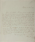 Autographs:Non-American, Thomas Moore Autographed Letter Signed....
