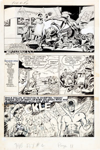 """Joe Simon and Neal Adams The Adventures of the Fly #4 Partial Story """"Muggsy's Masterpieces"""" Original A... (Tot..."""