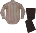 Music Memorabilia:Costumes, The Who - John Entwistle's Personally Owned Dress Shirt withPant.... (Total: 2 Items)