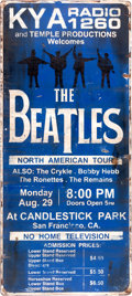 Music Memorabilia:Posters, Beatles KYA Radio Hand-Painted Wooden Sign for Candlestick ParkConcert (San Francisco, 1966). ...