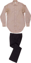 Music Memorabilia:Costumes, The Who - John Entwistle's Multi-Colored Striped Shirt With Black Pants.... (Total: 2 Items)