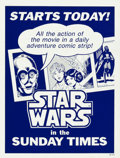 "Movie Posters:Science Fiction, Star Wars & Other Lot (LA Times Syndicate, 1979). Newspaper BoxInsert (10.5"" X 14"") & Poster (24"" X 32.5"").. ... (Total: 2Items)"