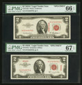 Fr. 1510 $2 1953A Specimen Legal Tender Note. PMG Gem Uncirculated 66 EPQ Fr. 1512 $2 1953C Specimen Legal Tend