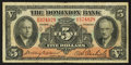 Canadian Currency: , Toronto, ON - The Dominion Bank $5 Jan. 2, 1935 Ch. # 220-26-02....