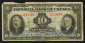 Canadian Currency: , Toronto, ON - Imperial Bank of Canada $10 Nov. 1, 1934 Ch. #375-22-08. ...