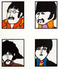 Memorabilia:Comic-Related, Yellow Submarine Beatles Framed Stationery Print Group (United Artists/King Features, 1968)....