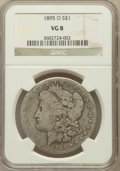 Morgan Dollars: , 1895-O $1 VG8 NGC. NGC Census: (99/4153). PCGS Population(178/4798). Mintage: 450,000. Numismedia Wsl. Price for problemf...