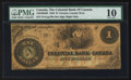 Canadian Currency: , Toronto, CW - The Colonial Bank of Canada $1 May 1, 1859 Ch. #130-10-04-02. ...