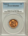 Lincoln Cents: , 1935-D 1C MS65 Red PCGS. PCGS Population (412/1019). NGC Census:(147/893). Mintage: 47,000,000. Numismedia Wsl. Price for ...