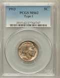 Buffalo Nickels: , 1913 5C Type One MS62 PCGS. PCGS Population (213/10218). NGCCensus: (282/6575). Mintage: 30,993,520. Numismedia Wsl. Price...