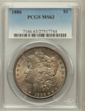 Morgan Dollars: , 1886 $1 MS63 PCGS. PCGS Population (34761/57277). NGC Census:(30955/76452). Mintage: 19,963,886. Numismedia Wsl. Price for...