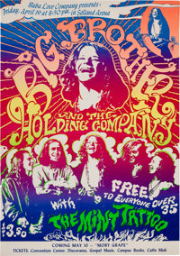 Big Brother and the Holding Company featuring Janis Joplin Selland Arena Concert Poster (Baba Love Company, 1968)